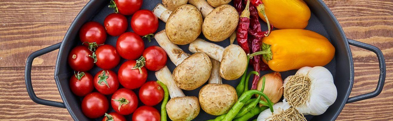 vegetales en un plato